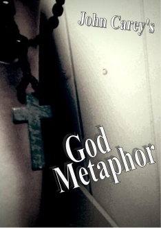 Cover of J.W. Carey's God Metaphor eBook - A cross held in a toilet cubicle