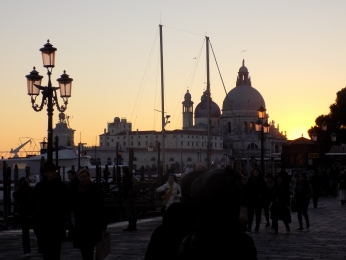 The Sun Sets Over Venice In November