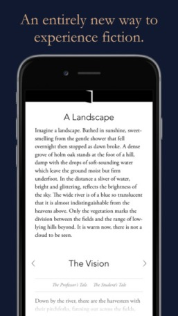 Interactive Fiction App Arcadia, Iain Pears